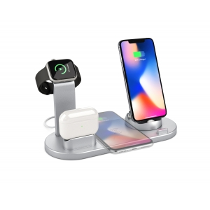 4 In 1 Fast Wireless Charging Station And Multiple Charging Dock For AirPods And Lightning Type-c Micro USB Port Phones With USB Charging Port For iWatch (MH-Q465)