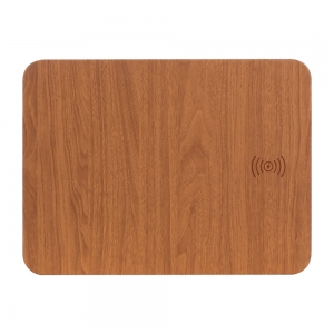 Factory Price 2 in 1 Fast Wireless Charging Mouse Pad with Customized Wooden Color for PC Computer Laptop Office Home Use (MH-D82)