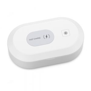 Multi-Function Fast Wireless Charger Mobile Phone Sanitizer UV and Portable UVC Lamp Ozone Aromatherapy Disinfector Box For iPhone Watch (MH-D71)