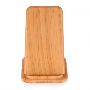 Shenzhen Good Quality Wooden Color Design Fast Wireless Charging Station for Xiaomi 9 and iphone XS Max/XR/X/8/8Plus (MH-V22C)