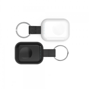 Shenzhen Pocket Size Keychain Design Magnetic iWatches Wireless Charger with Built in Power Bank Function and Compatible with iWatches Series 1/2/3/4 (MH-D40)