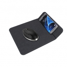 3 in 1 Foldable Office Mouse Pad with Phone Holder Stand and 10W Quick Wireless Charger for iPhones 11 Pro Max with LED Indicator (MH-D84)