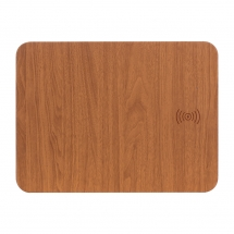 China Factory Price 2 in 1 Fast Wireless Charging Mouse Pad with Customized Wooden Color for PC Computer Laptop Office Home Use (MH-D82) factory