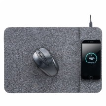 Hot Selling 2 in 1 Fast Wireless Charger Mouse Pad with Customized Fabric on The Surface for Computer Games and Office Study Use (MH-D85)