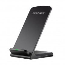 China Newest Style Desktop Fast Wireless Charger Stand with Matt Surface for Samsung Galaxy Note 9 and Huawei P10 mobile phones (MH-V6B) factory