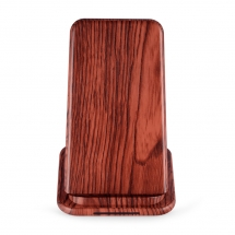 Shenzhen Lowest Price Deep Wood Grain Design Fast Wireless Charger Stand for iPhone Xs Max and Samsung Galaxy S10 Plus (MH-V22D)